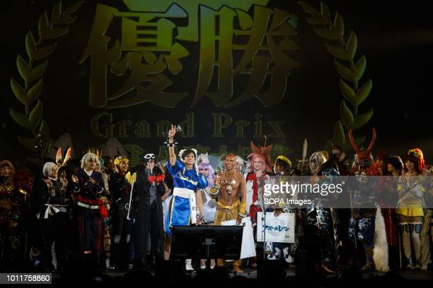 Mexican cos players seen performing Cos players from 36 different countries gathered in Nagoya to perform during the annual Cos play summit in...