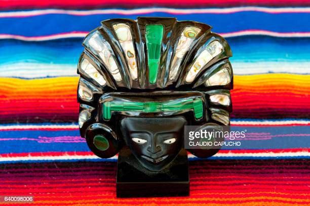 Mexican craft of a mayan god