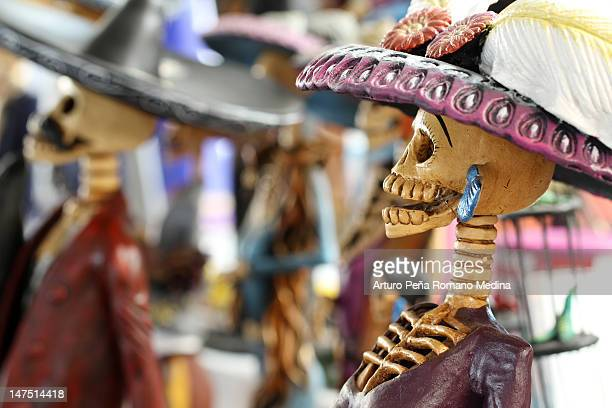 mexican death - all souls day stock photos and pictures