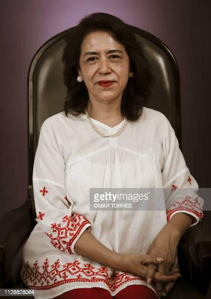 Mexican deputy for the MORENA party and president of the Education Commission of the Mexican Lower Chamber Adela Pina poses for a photograph in...