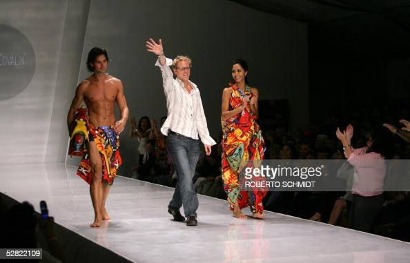 Mexican Designer Pineda Covalin Waves At The End Of His Showcase At News Photo Getty Images