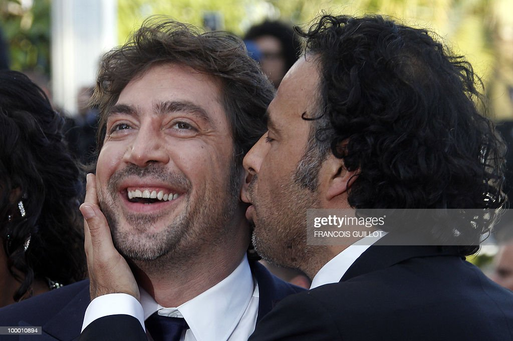 Mexican director Alejandro Gonzalez Inarritu (L) and Spanish actor Javier Bardem arrive for the screening of 'Biutiful' presented in competition at the 63rd Cannes Film Festival on May 17, 2010 in Cannes.