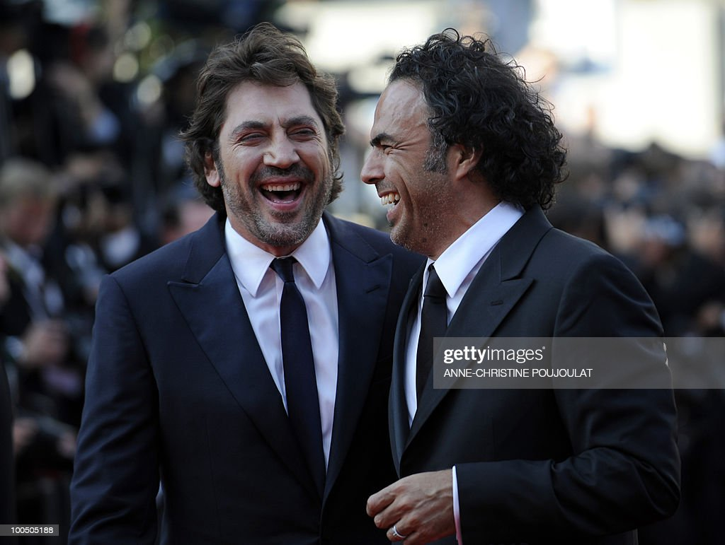 Mexican director Alejandro Gonzalez Inarritu (R) and Spanish actor Javier Bardem arrive for the closing ceremony at the 63rd Cannes Film Festival on May 23, 2010 in Cannes.