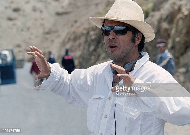 Mexican director Alejandro Gonzalez Inarritu during the filming of 'Babel' on location in Morocco 2005
