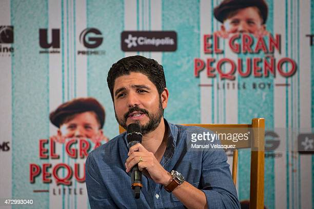 Mexican director Alejandro Monteverde attends a press conference to present 'Little Boy' at Camino Real Polanco Hotel on May 11 2015 in Mexico City...