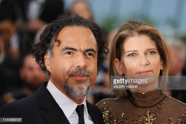 Mexican director and President of the Jury of the Cannes Film Festival Alejandro Gonzalez Inarritu and his wife Maria Eladia Hagerman arrive for the...