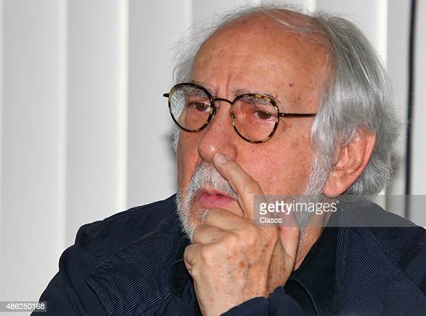 Mexican director Arturo Ripstein attends 'La Calle de la Amargura' film press conference at Instituto Mexicano De Cinematografia on August 31 2015 in...
