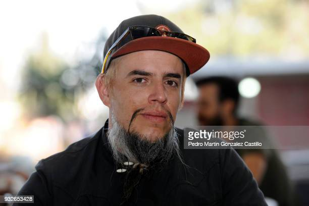 Mexican Director Jose Villalobos of the documental movie El Charro de Tequila poses during the announcement of the Guerrero Awards of the Press as...