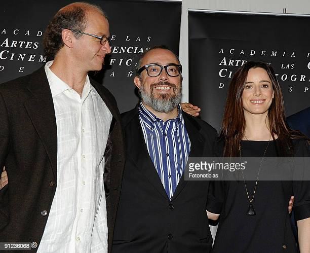 Mexican director Juan Carlos Rulfo director and president ot of Spain's Academy of Cinema Alex de la Iglesia and Actress Pilar Lopez de Ayala attend...