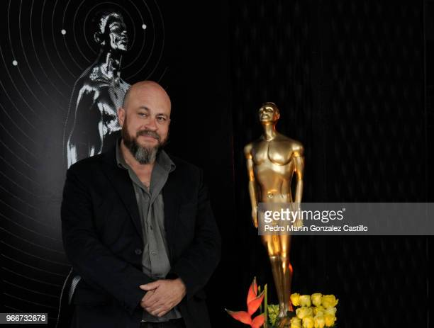 Mexican documentalist Everardo González poses during a photocall ahead of 60th Ariel Awards nominees presentation at Estudios Churubusco on May 28...
