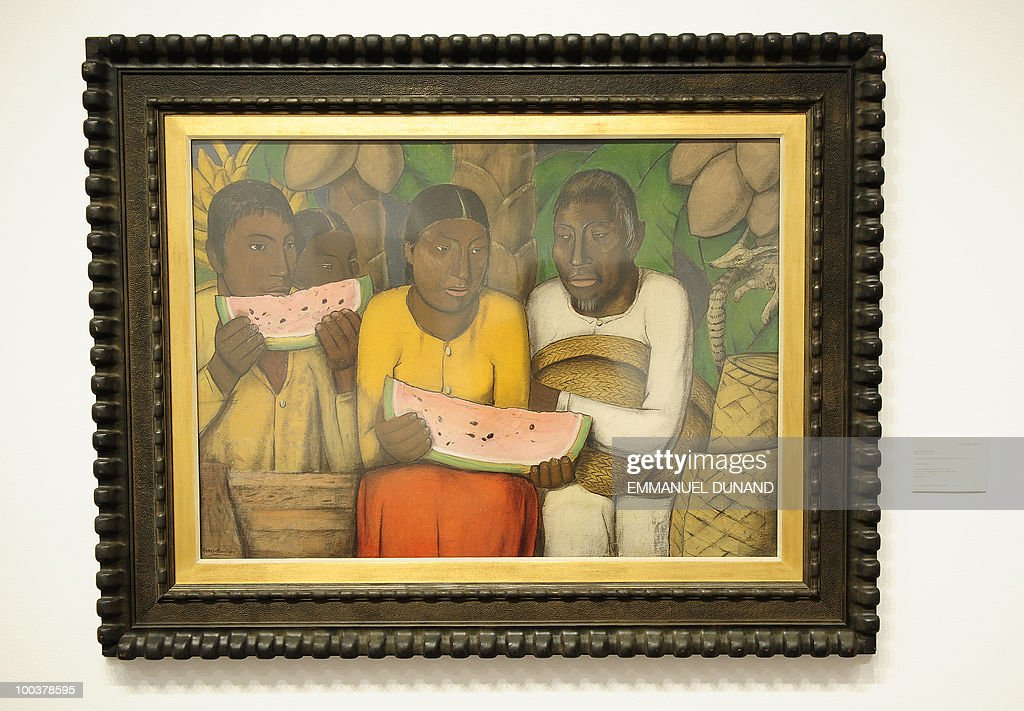 'Mexican Family' by Alfredo Ramos Martinez is on display during a preview of Christie's Latin American Art auctions, May 24, 2010 in New York. Christie's will hold its Latin American Art auctions on May 26 and 27, 2010. AFP PHOTO/Emmanuel Dunand