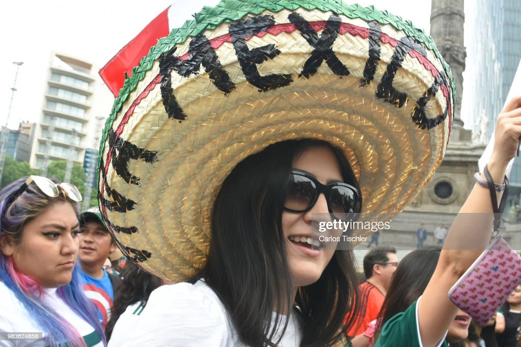 Mexico Fans Support Their Team in Mexico City