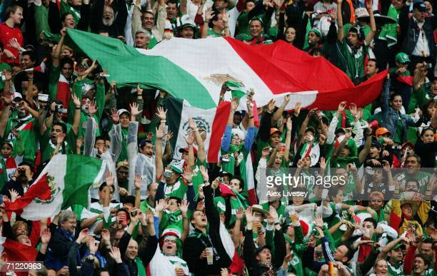 Mexican fans perform a Mexican wave during the FIFA World Cup Germany 2006 Group D match between Mexico and Angola played at the Stadium Hanover on...