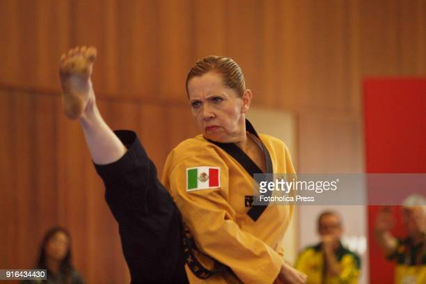 Mexican female master athlete at the 10th WTF World Taekwondo Poomsae Championship taking place in Lima Peru