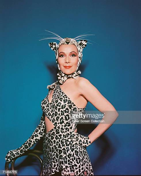 Mexican film star Dolores Del Rio in a leopard costume, circa 1945.