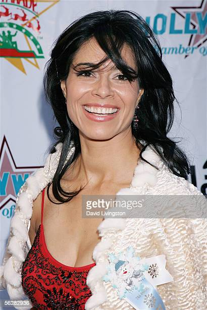 Mexican film star Estephania LeBaron poses prior to participating in the 2005 Hollywood Christmas Parade on November 27 2005 in Hollywood California