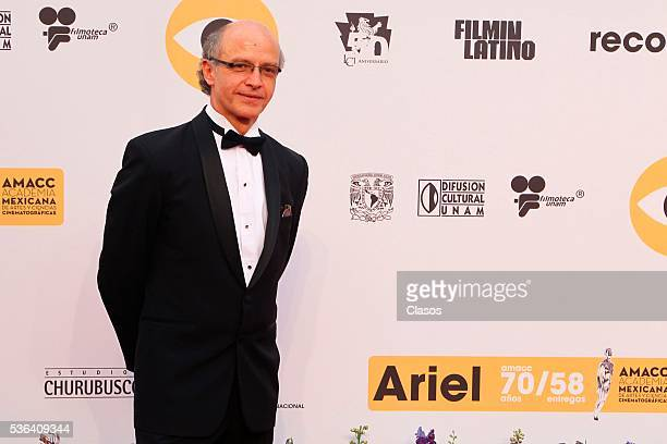 Mexican filmmaker Juan Carlos Rulfo attends the red carpet of Premios Ariel 2016 at Nacional Auditorium on May 17 2016 in Mexico City Mexico