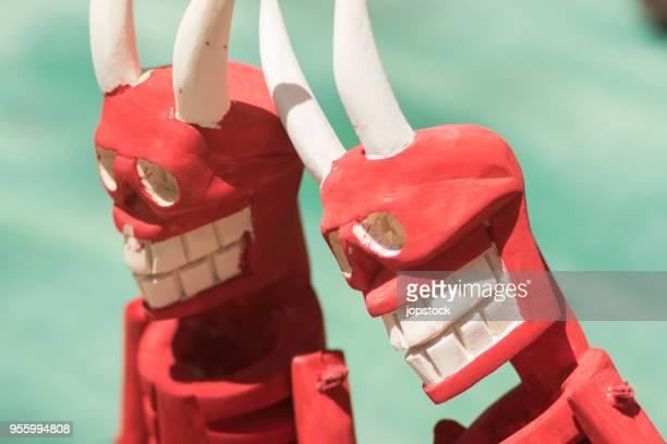 mexican folk art - the devil - devil costume imagens e fotografias de stock