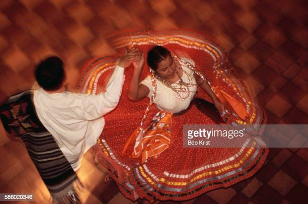 mexican folk dancers - traditional dancing stock pictures, royalty-free photos & images
