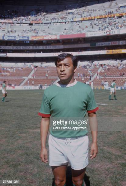 Mexican footballer Antonio Munguia midfielder with the Mexico national team pictured on the pitch during the 1970 FIFA World Cup finals in Mexico...