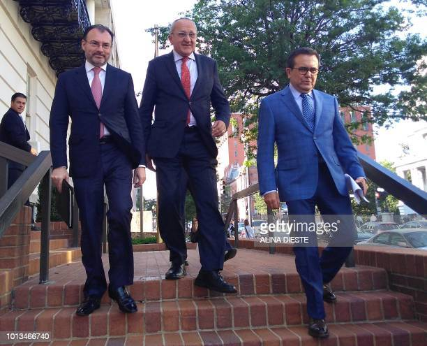 Mexican Foreign Minister Luis Videgaray trade negotiator for Mexican Presidentelect Andres Manuel Lopez Obrador Jesus Seade and Mexican Economy...