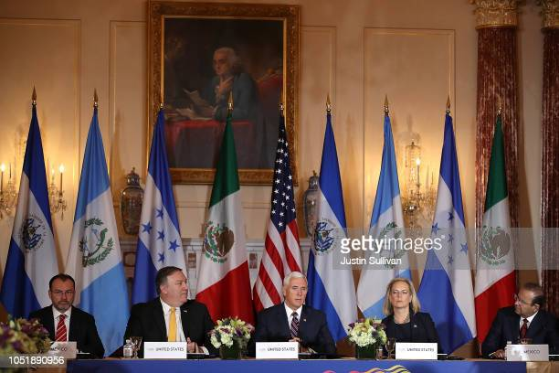 Mexican Foreign Secretary Luis Videgaray US Secretary of State Mike Pompeo US Vice President Mike Pence Homeland Security Secretary Kirstjen Nielsen...
