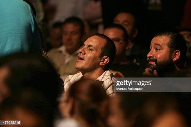 Mexican former soccer player and now elected Mayor of Cuernavaca Cuauhtemoc Blanco attends a UFC Heavyweight Championship Fight between Cain...
