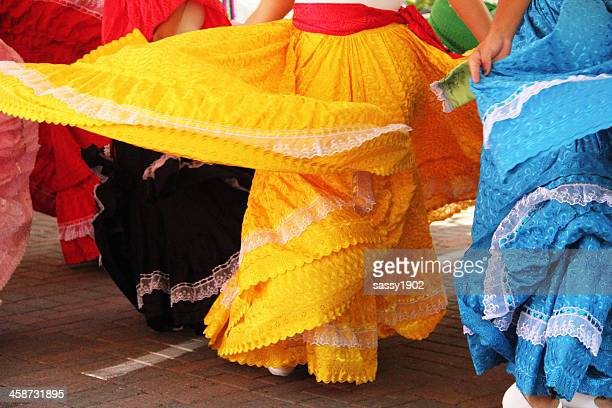 mexican girls dancing dresses - cinco de mayo stock pictures, royalty-free photos & images