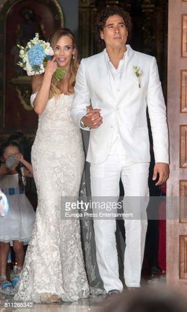 Mexican goalkeeper Guillermo Ochoa and Karla Mora get married on July 8, 2017 in Ibiza, Spain.