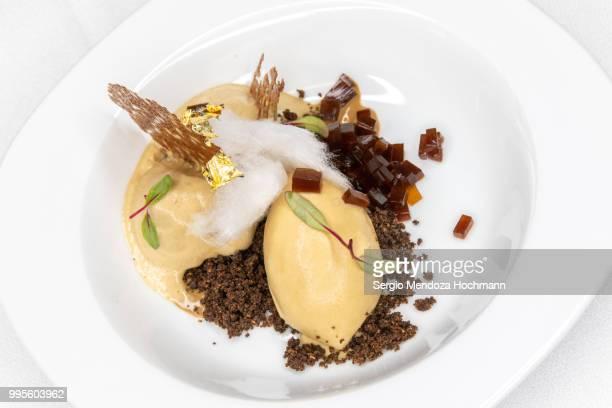 Mexican Gourmet food - Three-Textured Coffee Dessert