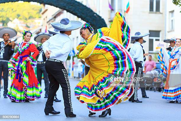 mexican group for traditional dances at festival - traditional clothing stock pictures, royalty-free photos & images