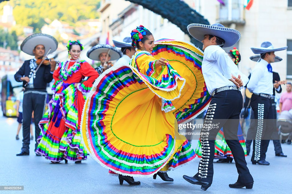 Mexican Group participating in festival : Stock Photo