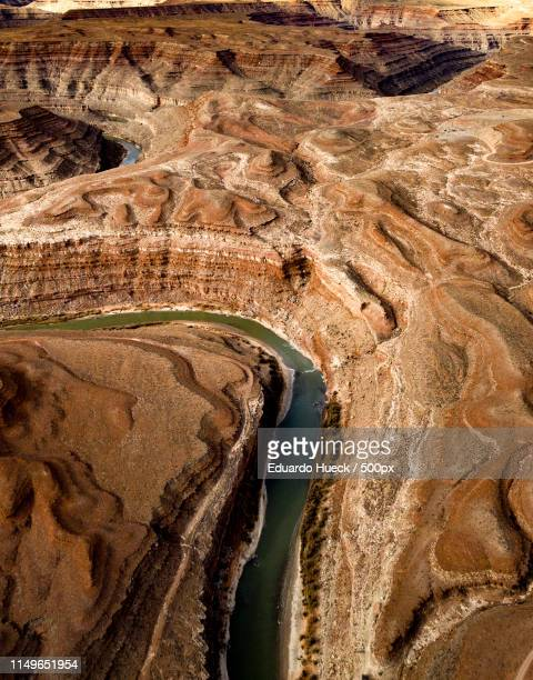 mexican hat & mv aerials - capitol reef national park stock pictures, royalty-free photos & images