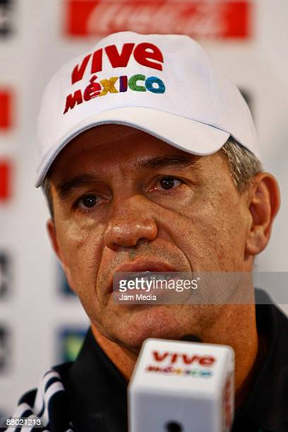Mexican head coach Javier Aguirre during the press conference on May 27 2009 in Mexico City Mexico