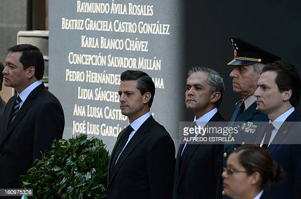 Mexican Interior Minister Miguel Osorio Mexican President Enrique Pena Nieto Mexico City's Mayor Miguel Mancera Defence Secretary General Salvador...
