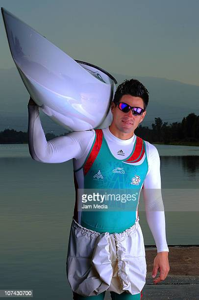 Mexican kayaker Manuel Cortina during a photo session at Olympic Track Cuemanco on December 8, 2010 in Mexico City, Mexico. Miguel Cortina won two...