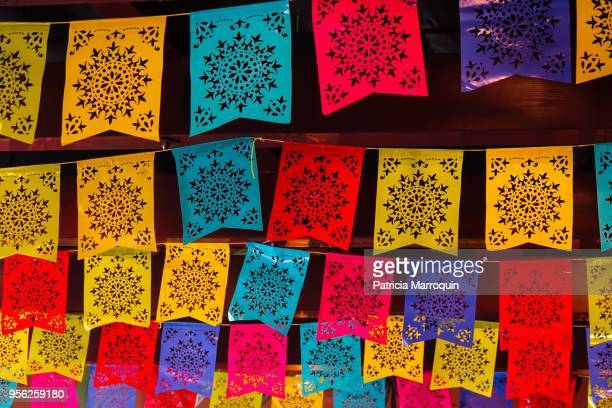 Mexican lace flag decor