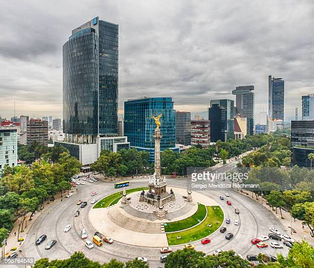 mexican landmarks - independence monument mexico city stock pictures, royalty-free photos & images