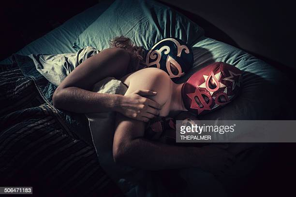 mexican lucha libre couple - face guard sport stock pictures, royalty-free photos & images