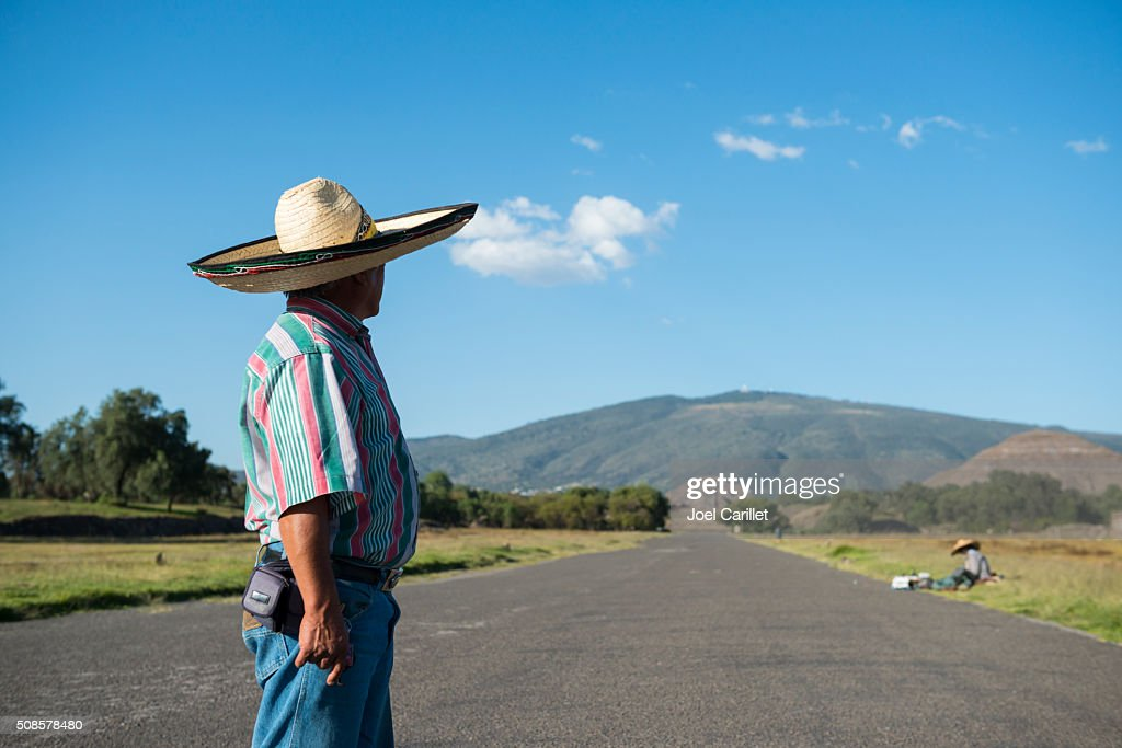 Mexican man in Teotihuacan, Mexico : Stock Photo