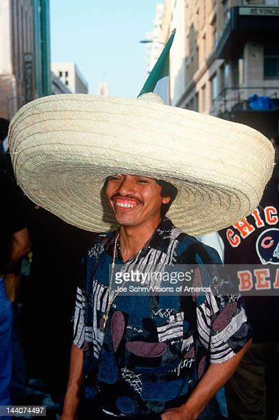 A Mexican man wearing a sombrero Cinco de Mayo Celebration Los Angeles CA