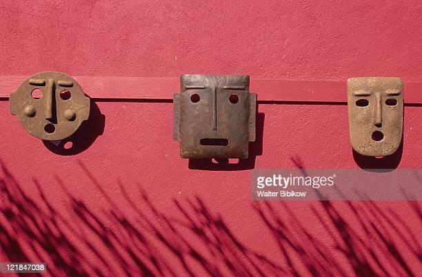 mexican mask, todos santos, baja california, mx - todos santos mexico fotografías e imágenes de stock