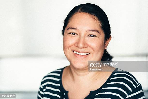 Mexican mid adult woman portrait