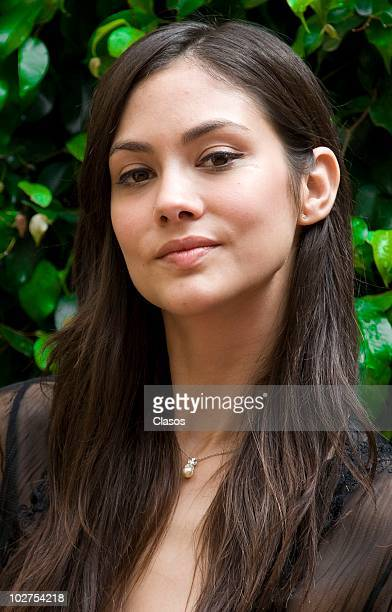 Mexican model and actress Diana Garcia poses for portraits during a photo session on July 9 2010 in Mexico City Mexico