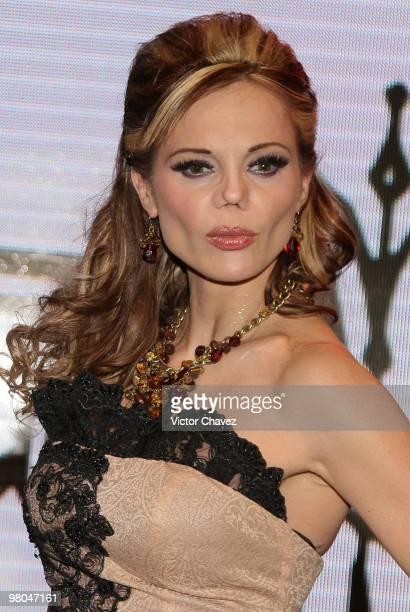 Mexican model Carmen Campuzano attends the La Vill Autumn/Winter 2010 fashion show at Casino Life on March 24 2010 in Mexico City Mexico