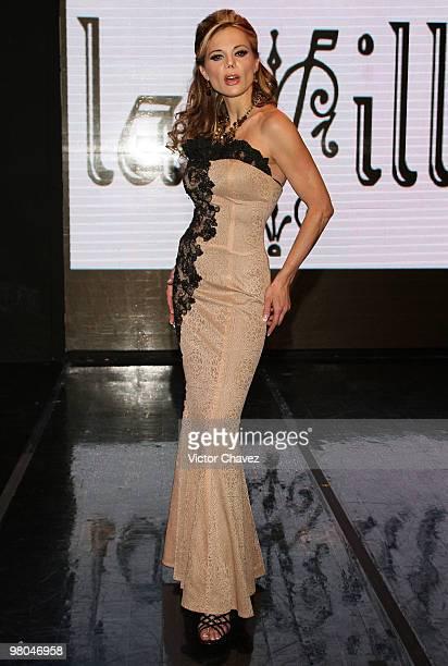 Mexican model Carmen Campuzano walks the runway wearing La Vill Autumn/Winter 2010 at Casino Life on March 24 2010 in Mexico City Mexico