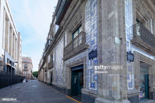 mexican national bank and azulejos palace - national palace mexico city stock pictures, royalty-free photos & images