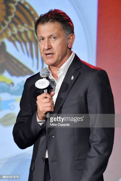 Mexican National Team head coach Juan Carlos Osorio attends FOX Sports 2018 FIFA World Cup Celebration on September 26 2017 at ArtBeam in New York...