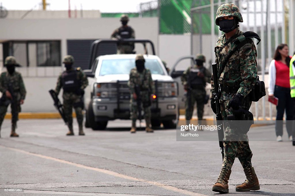 A Mexican Navy soldier guards a street in Mazatlan, Sinaloa, Mexico