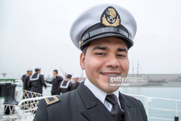 Mexican officer of the Cauhtémoc poses during the Velas Latinoamerica 2018 Nautical Festival at Callao Naval Base on June 21 2018 in Callao Peru The...